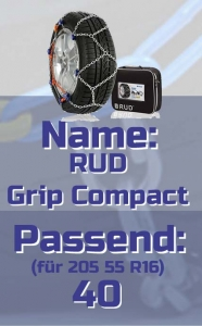 205 55 R16 RUD Grip Compact Schneeketten