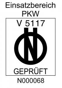 Prüfsiegel der Alpin 48704 Schneeketten