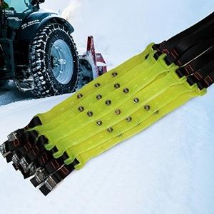 TFCFL® 10er Set Schneeketten und Traktions-/Anfahrhilfe PKW Schnellmontage-Ketten TPU Geländewagen SUV Leicht-LKW Transporter Wohnmobile Reifengröße M 185mm-225mm Grün - 2